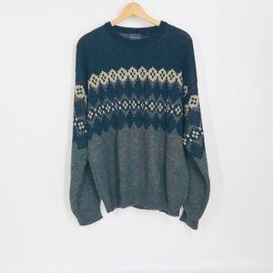 Unisex Nordic Print Sweater Soft Oversized Chunky